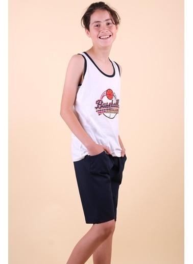 Breeze Erkek Çocuk Kapri Takım Baseball Nakışlı Ekru (9-14 Yaş) Ekru